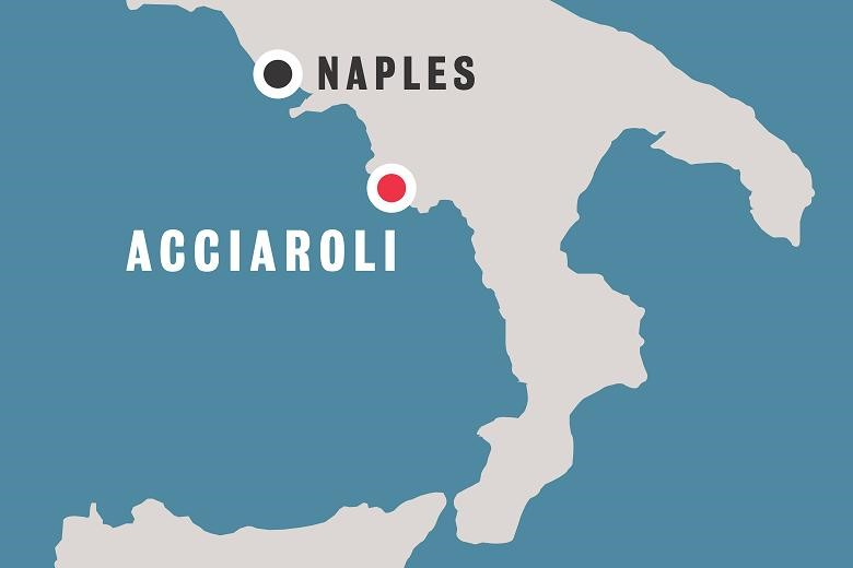 Acciaroli is a seaside village 85 miles south of  Naples